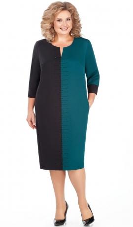 LIA4197 Melna/tirkīzkrāsas kleita