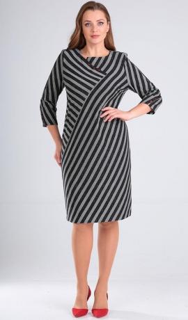 LIA4945 Svītru raksta kleita