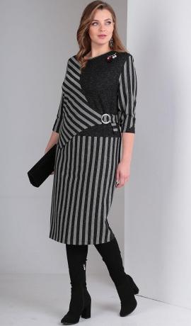 LIA4943 Svītru raksta trikotāžas kleita