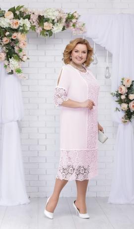 LIA2628 Pūderkrāsas kleita