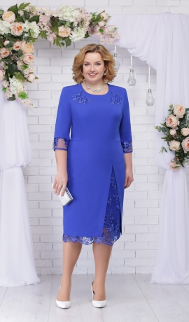 LIA2635 Zila kleita