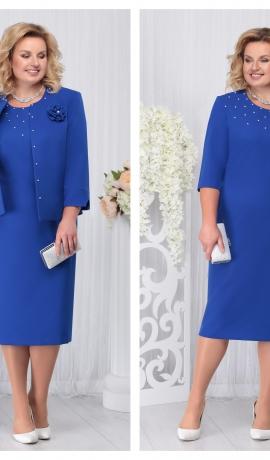 LIA3312 Zila kleita ar žaketi