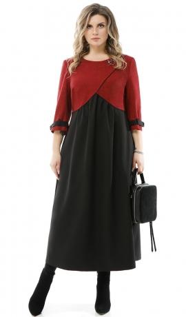 LIA7637 Melna ar sarkanu kleita