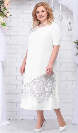 3-1108 Balta kleita ar mežģīņu uzšuvēm