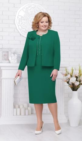 LIA2377 Zaļa kleita ar žaketi
