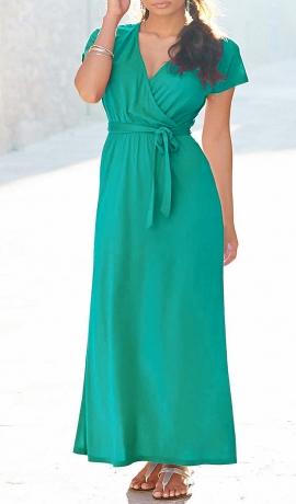 3-0450 Zaļa maksī kleita