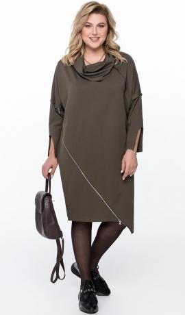 LIA6481 Haki krāsas kleita