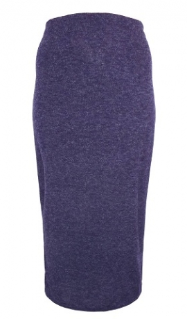 4-0132 Maxi lillā, adīti trikotāžas svārki