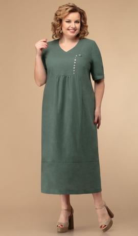 LIA5672 Zaļa kleita