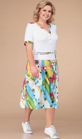 LIA3340 Kostīmu imitējoša kleita