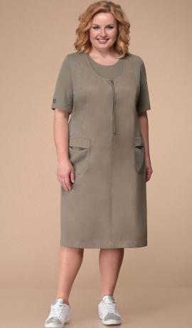 LIA3344 Haki krāsas kleita