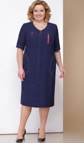 LIA3346 Tumši zila kleita