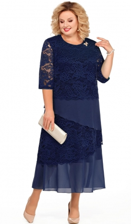 LIA3561 Zilas krāsas kleita