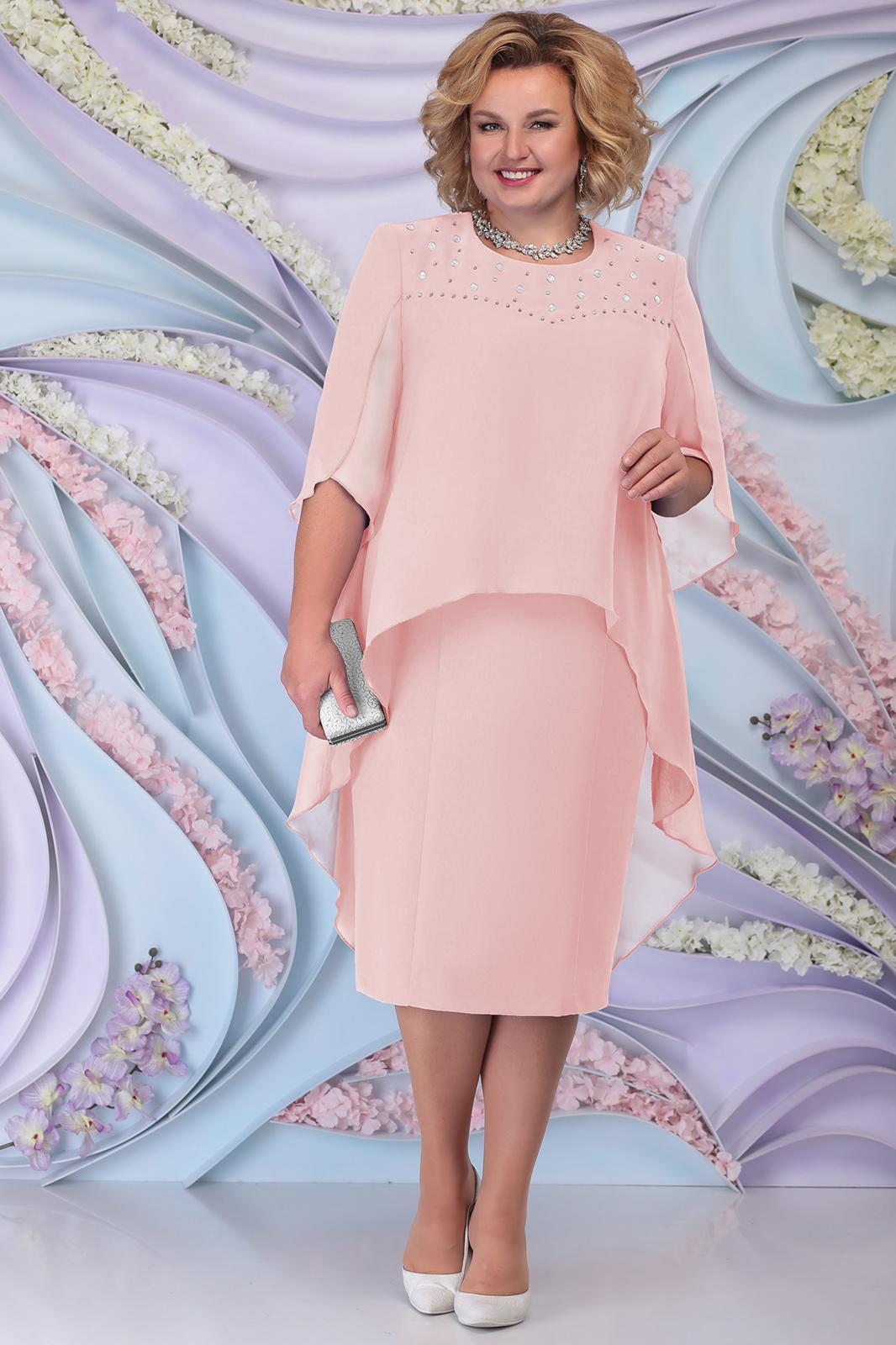 LIA6190 Gaiši rozā kleita