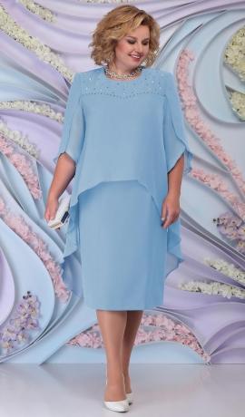 LIA6194 Gaiši zila kleita
