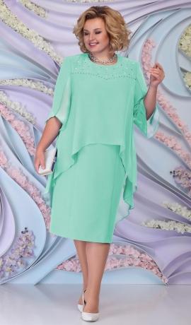 LIA6191 Gaiši zaļa kleita