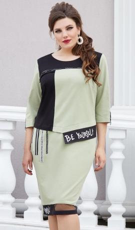 LIA7988 Pistāciju krāsas kleita