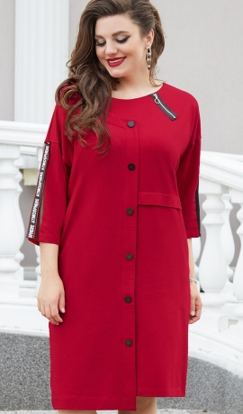 LIA7986 Tumši sarkana asimetriska griezuma kleita