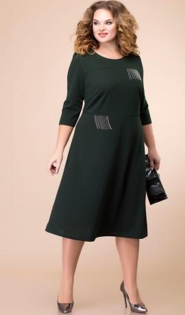 LIA6916 Tumši zaļā kleita