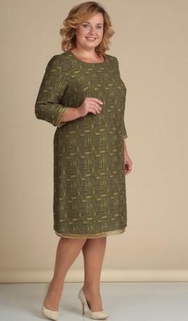 LIA1652 Olīvkrāsas kleita