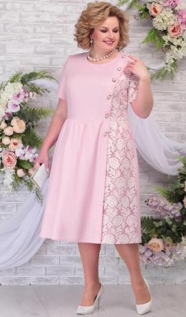 LIA5823 Gaiši rozā kleita