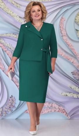 LIA6212 Zaļa lietišķa stila kleita
