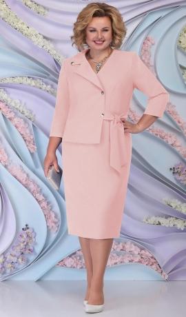 LIA6207 Gaiši rozā lietišķa stila kleita
