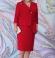 LIA6210 Sarkana lietišķa stila kleita