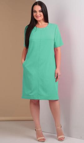 LIA1623 Ikdienas kleita piparmētru krāsā