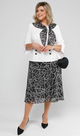 LIA7654 Kostīmu imitējoša kleita