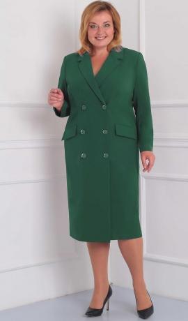 3-1443 Zaļa kostīmstila kleita