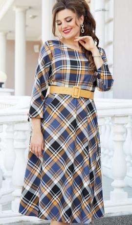 LIA7997 Rūtiņu raksta kleita