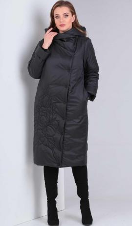 LIA4508 Melna virsjaka ar kapuci
