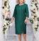 LIA4460 Smaragdzaļa kleita ar spīdumu