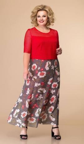 LIA6222 Divu audumu kleita