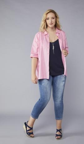 1-1129 Lina blūze rozā krāsā