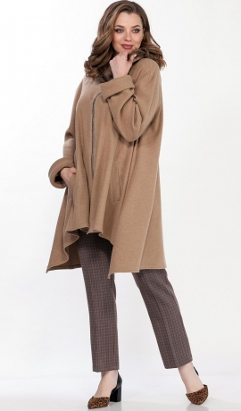 LIA6670 Smilšu krāsas jaka ar kapuci