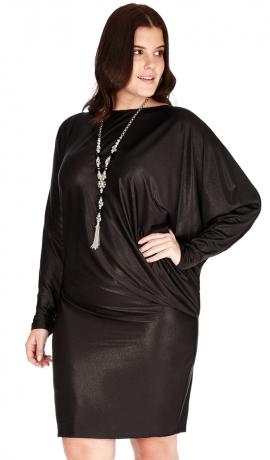 3-0545 Melna Metāliska Mini kleita