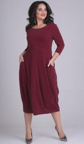 LIA2044 Sarkana kleita ar kabatām