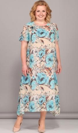 LIA2870 Magoņu raksta kleita
