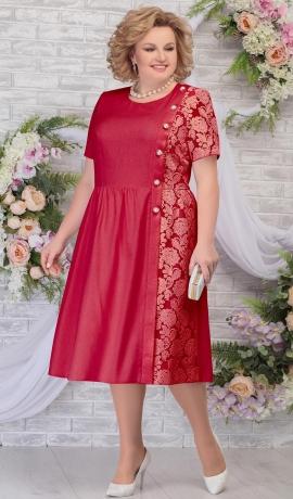 LIA5981 Sarkana kleita