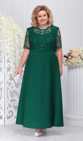 3-1416 Zaļa maxi svētku kleita