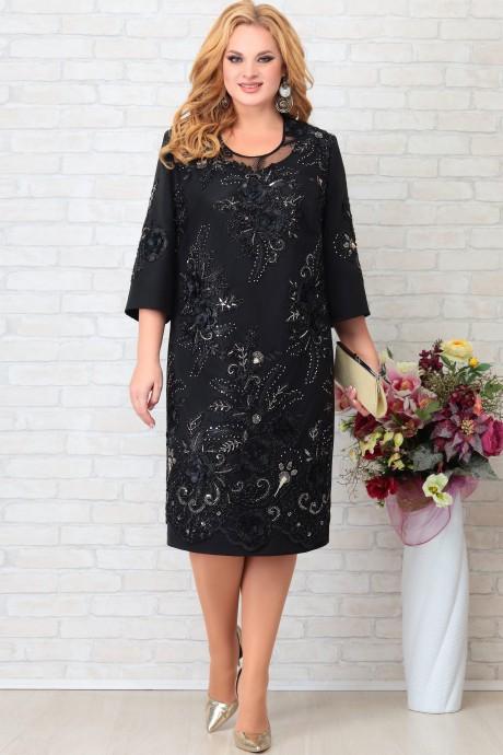 LIA7679 Melna kleita ar mežģīni