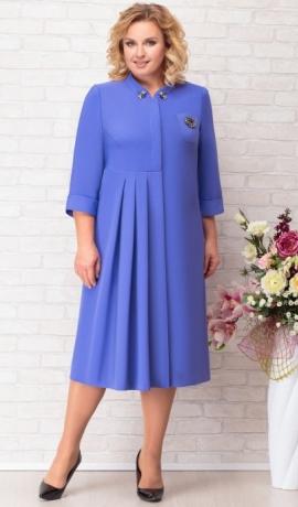 LIA7692 Zila kleita ar ielocēm