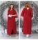 LIA6684 Sarkana maxi kleita