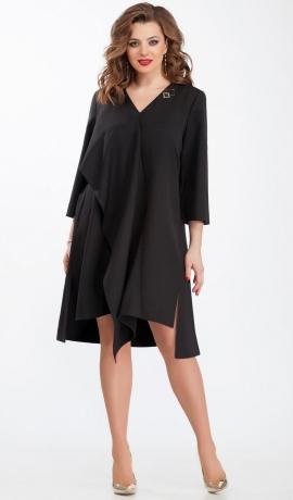 LIA2226 Melna asimetriska kleita