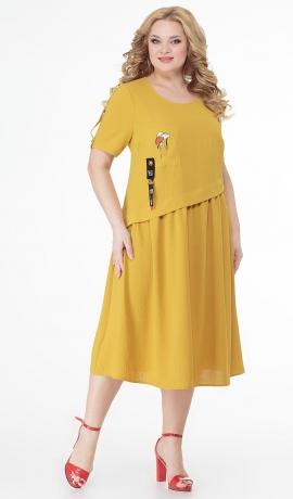 LIA7345 Dzeltena kleita