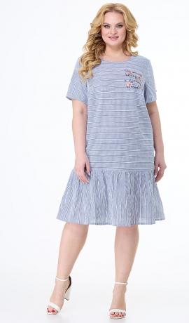 LIA7343 Gaiši zila kleita