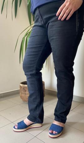 5-0485 Pelēkas garas džinsu bikses
