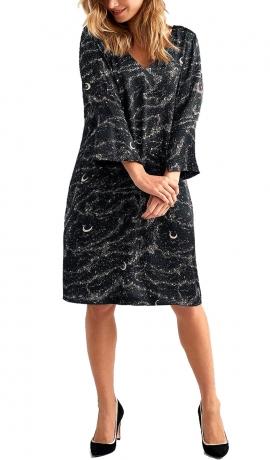 3-1360 Melna kleita ar apdruku